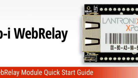Web-I WebRelay Communications Module Quick Start Guide