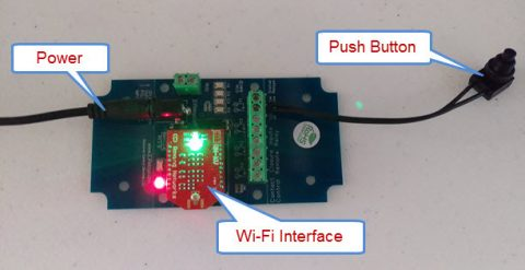 Set up Wi-Fi Push Notification Board with N-Button