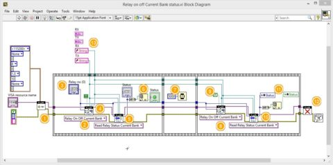 Labview Relay switching and Status acquisition 1