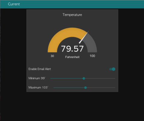 Node-RED Dashboard – Thermocouple Alert