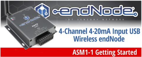 4-Channel 4-20mA Input USB Wireless endNode Getting Started