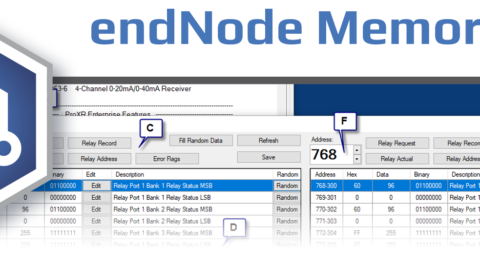 endNode Memory Map