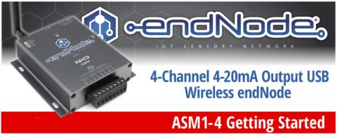 4-Channel 4-20mA Output USB Wireless endNode Getting Started