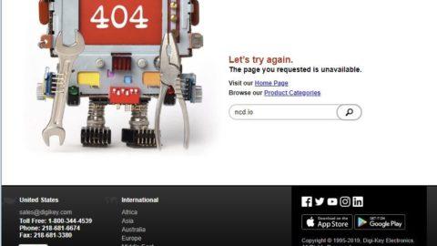 Error 404 Digikey Blocked Google Chrome Adding Shopping Cart